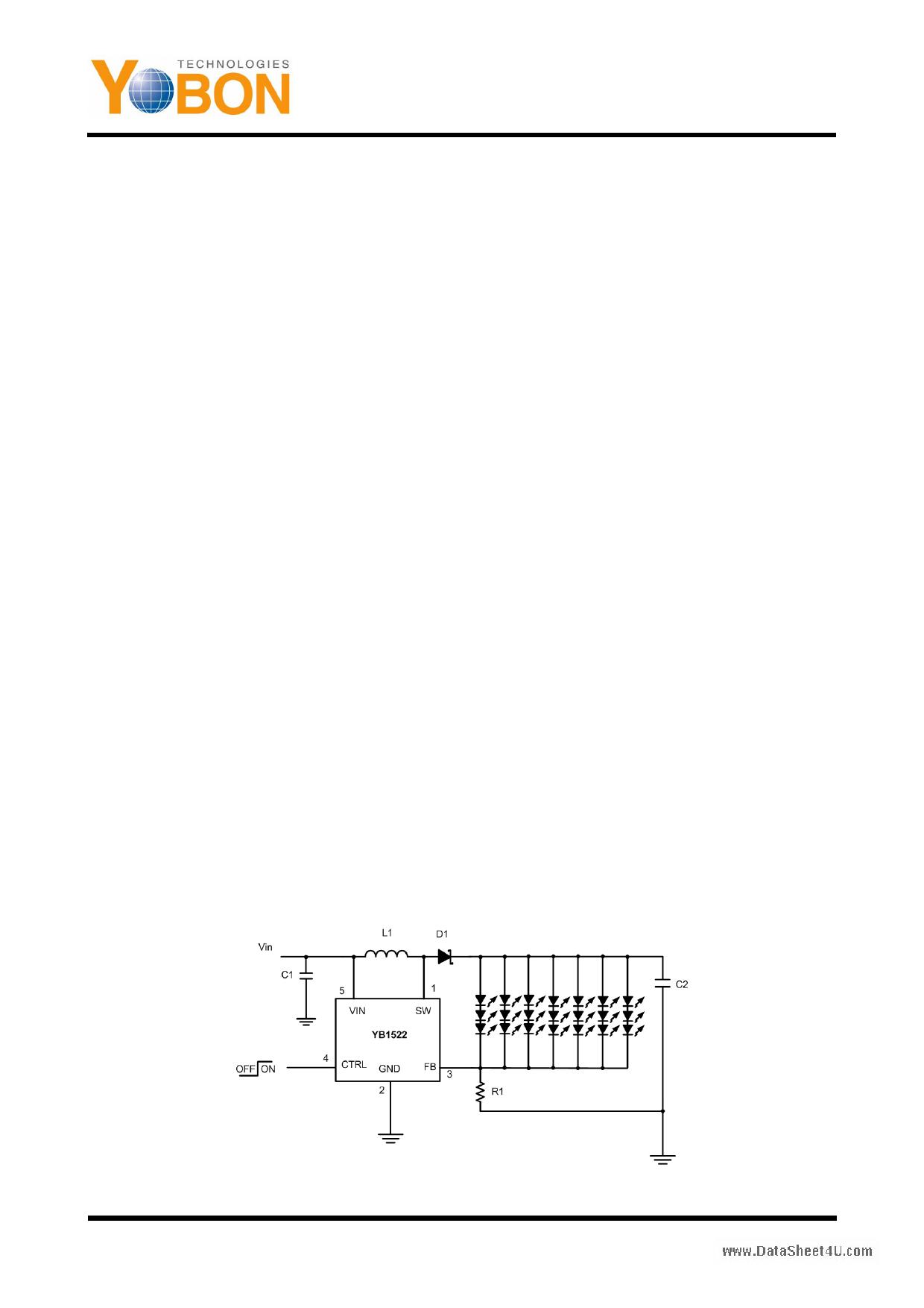 YB1522 دیتاشیت PDF