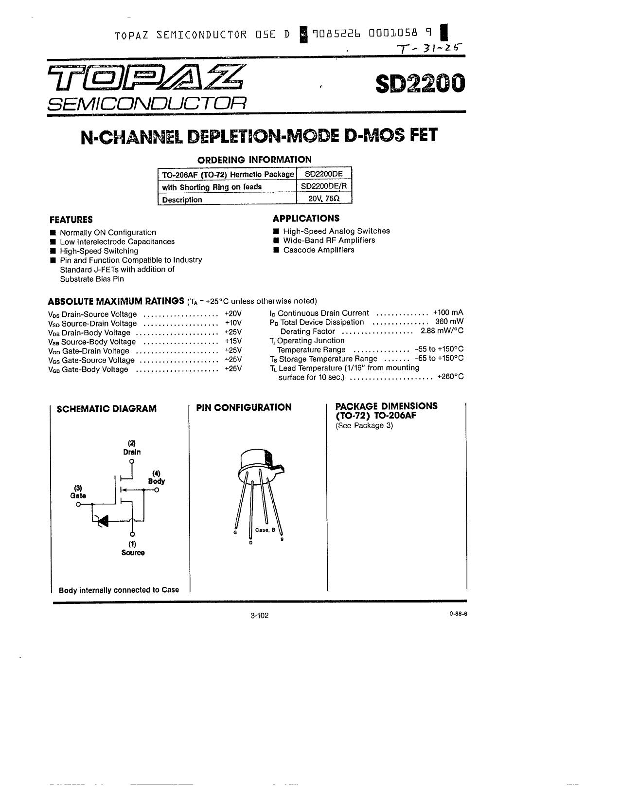 SD2200 دیتاشیت PDF