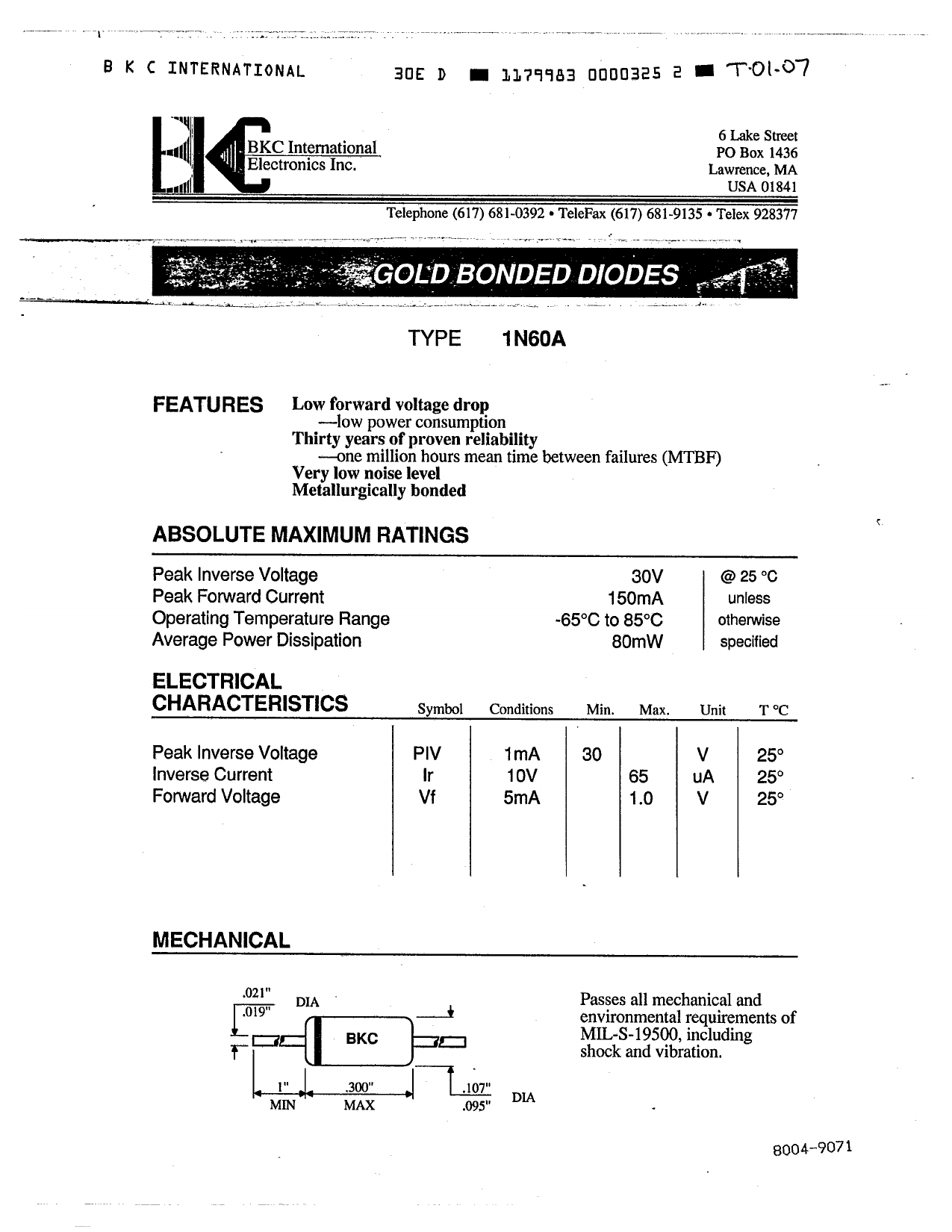 1N198 دیتاشیت PDF