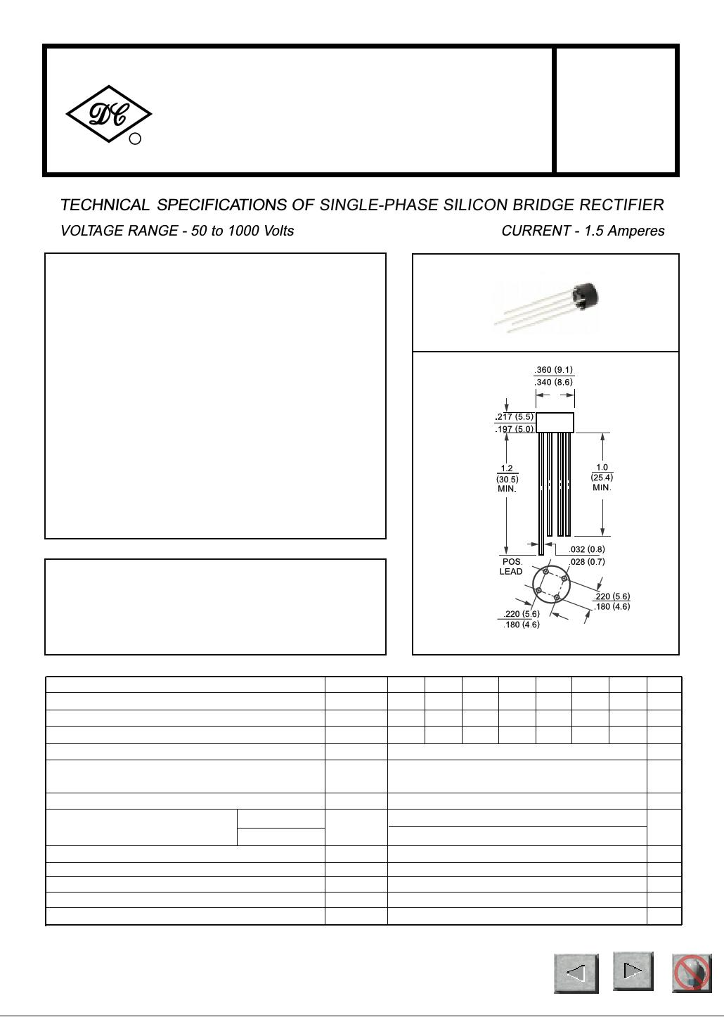 W005A даташит PDF