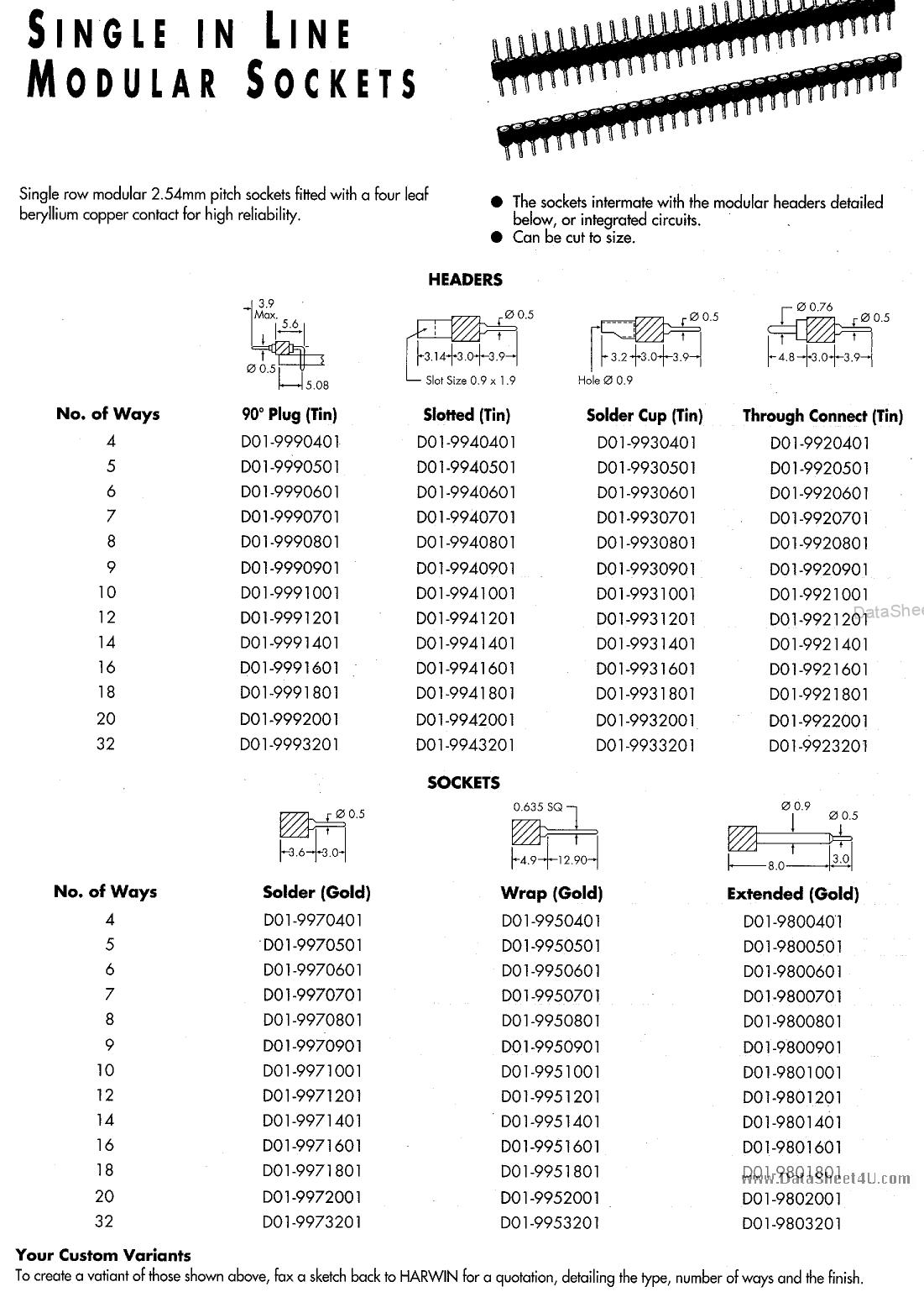 D01-98xxxxx Hoja de datos, Descripción, Manual