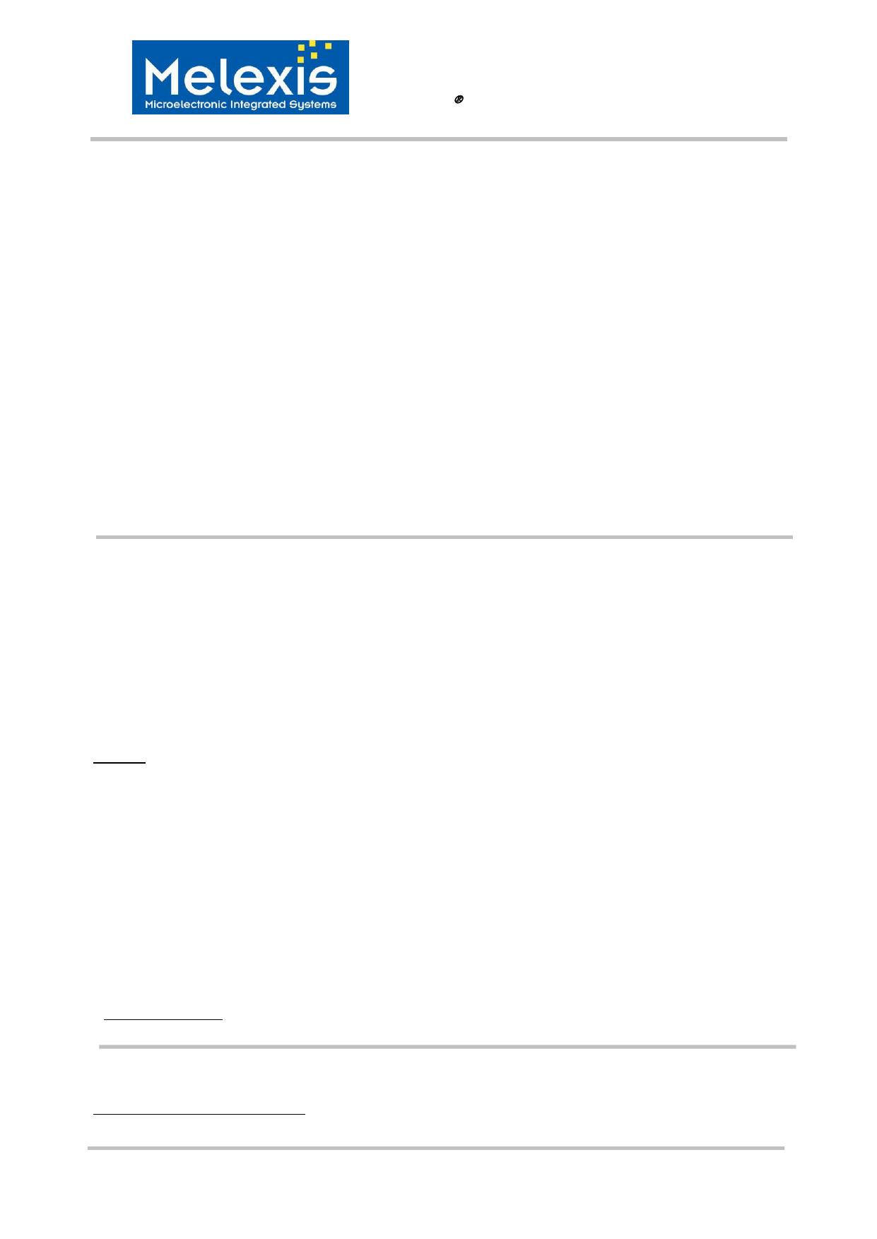 MLX90366 데이터시트 및 MLX90366 PDF
