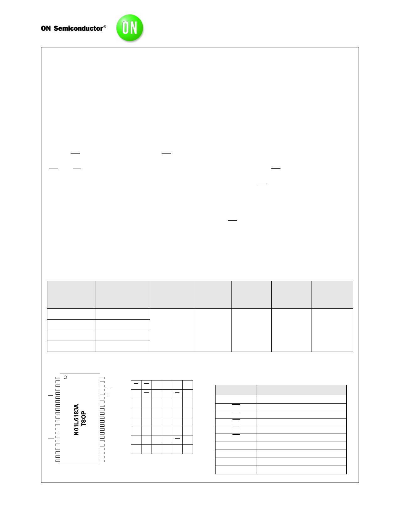 N01L6183A datasheet