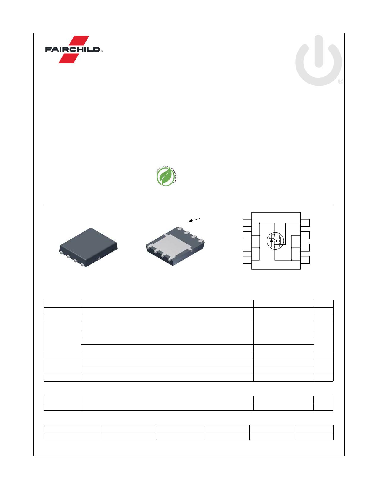 FDMS0310AS 데이터시트 및 FDMS0310AS PDF