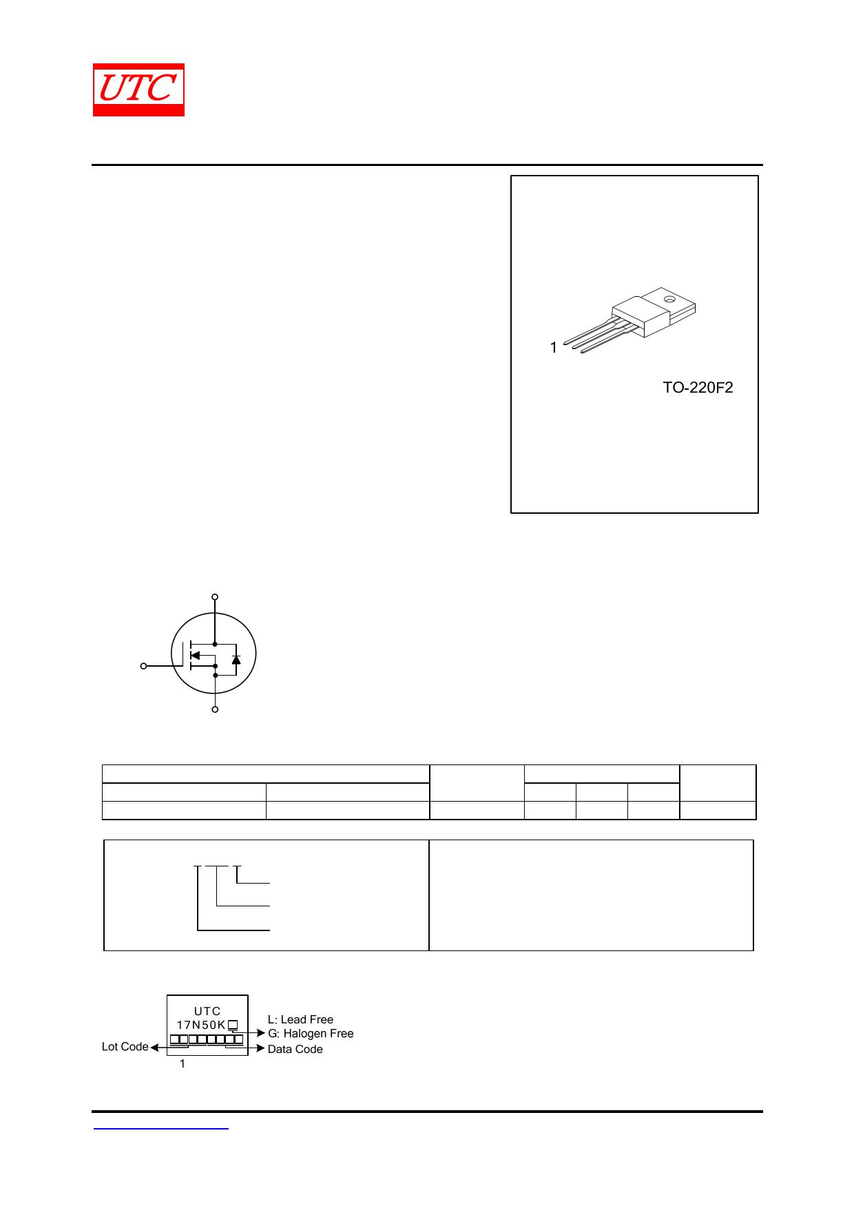 17N50K-MT datasheet