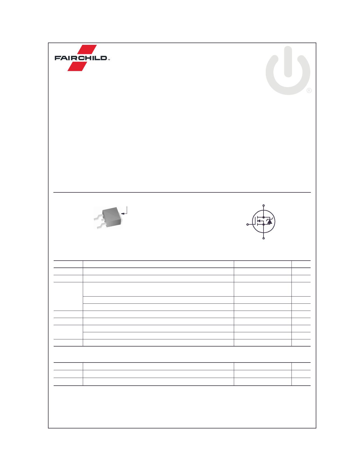 FDD2582 데이터시트 및 FDD2582 PDF
