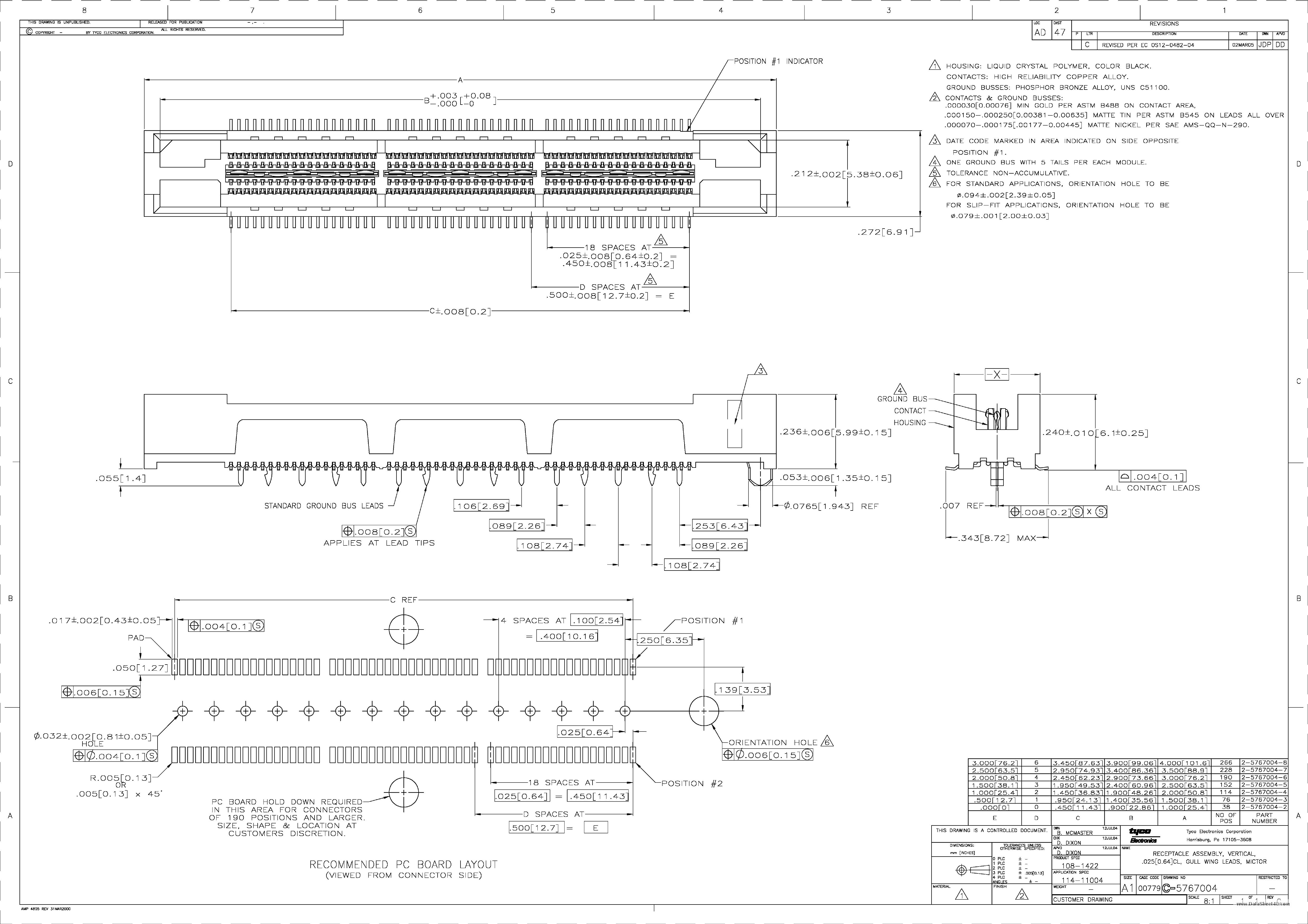 2-5767004-2 دیتاشیت PDF