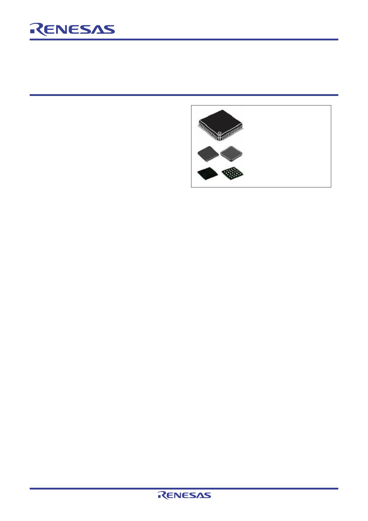 R5F51104AGNE 데이터시트 및 R5F51104AGNE PDF