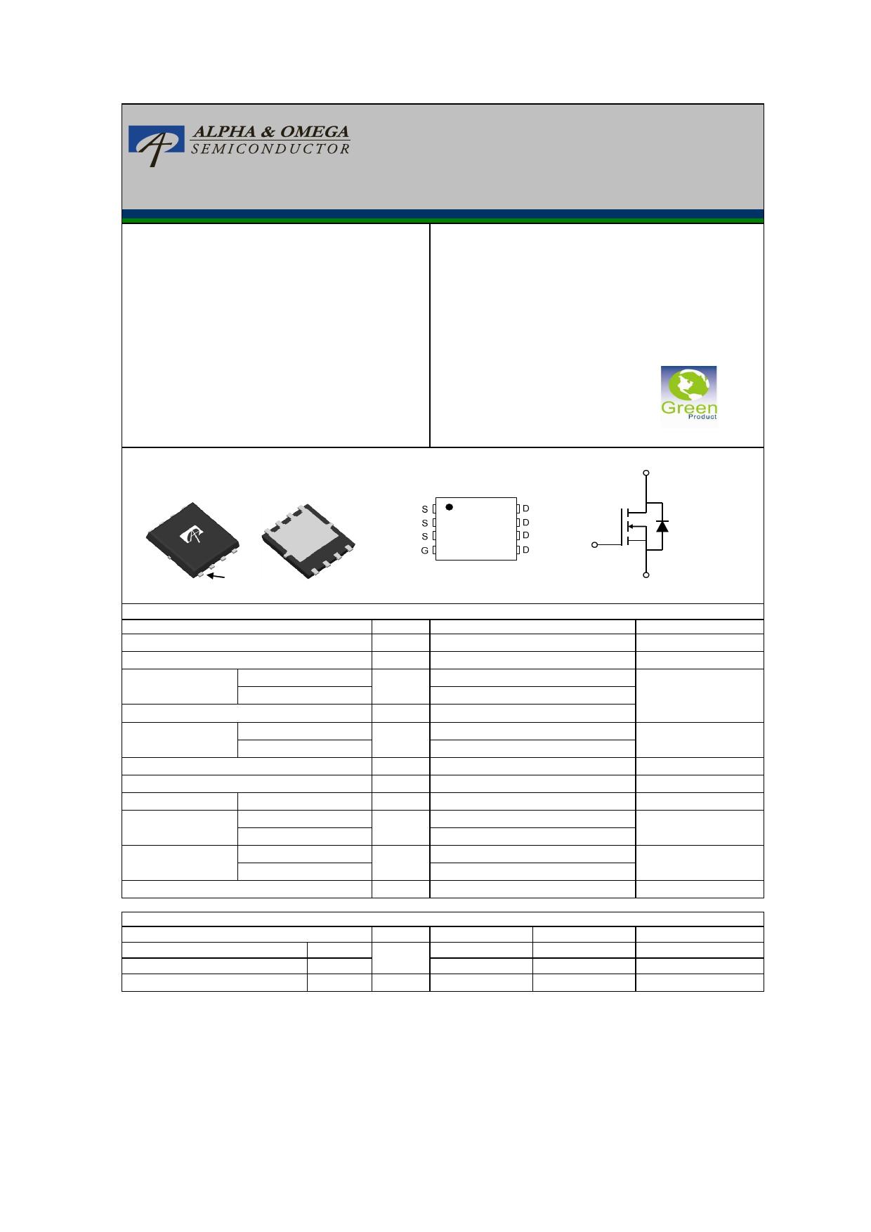 AON6534 Datasheet, AON6534 PDF,ピン配置, 機能