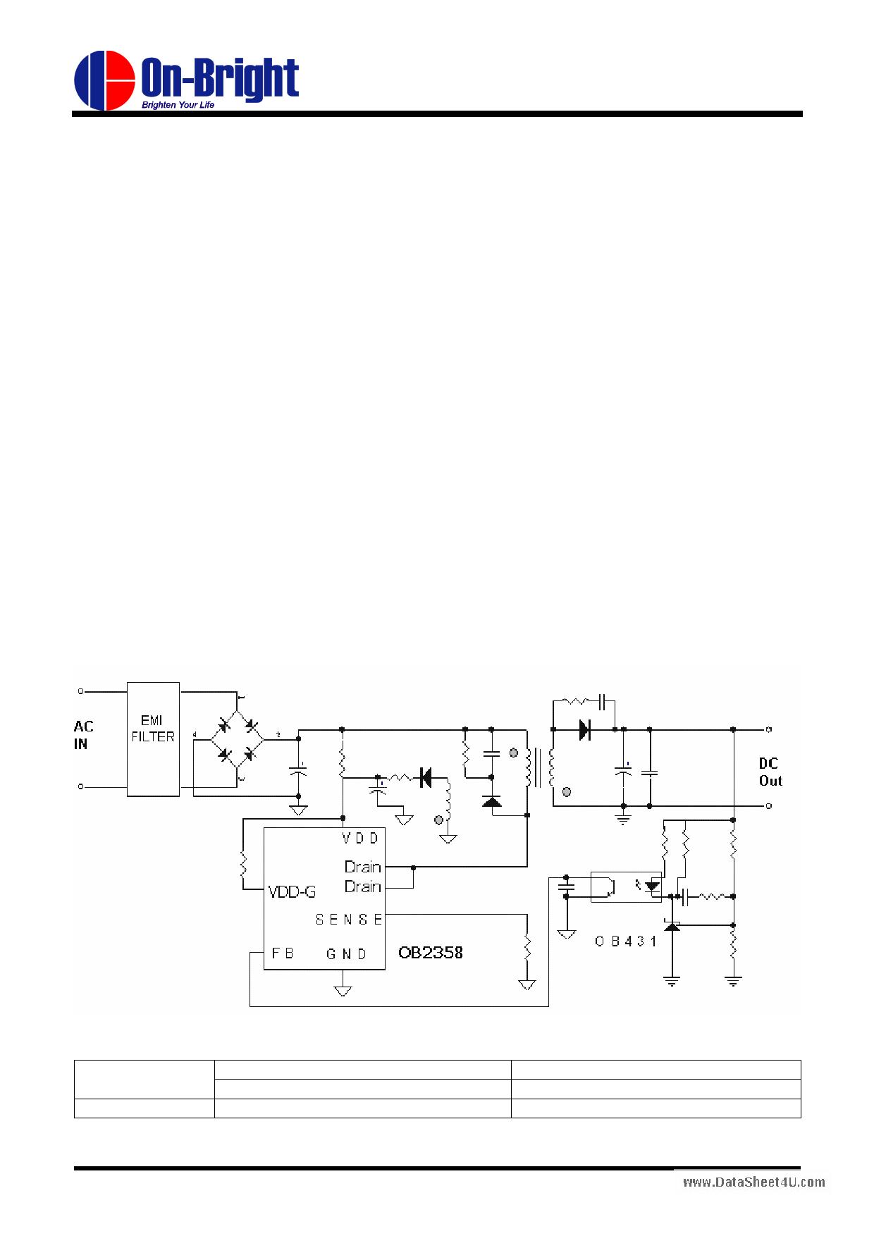OB2358 دیتاشیت PDF