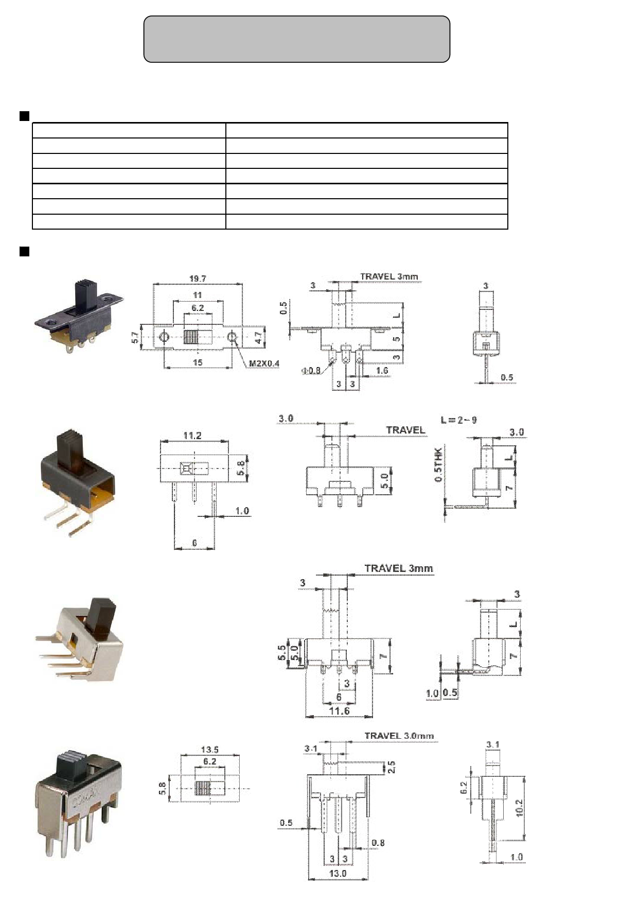 SS-12F77-V4 PDF 데이터시트 - Slide Switch Single Port - ETC