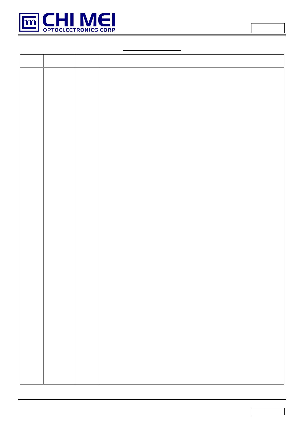 G070Y3-T01 pdf, 電子部品, 半導体, ピン配列