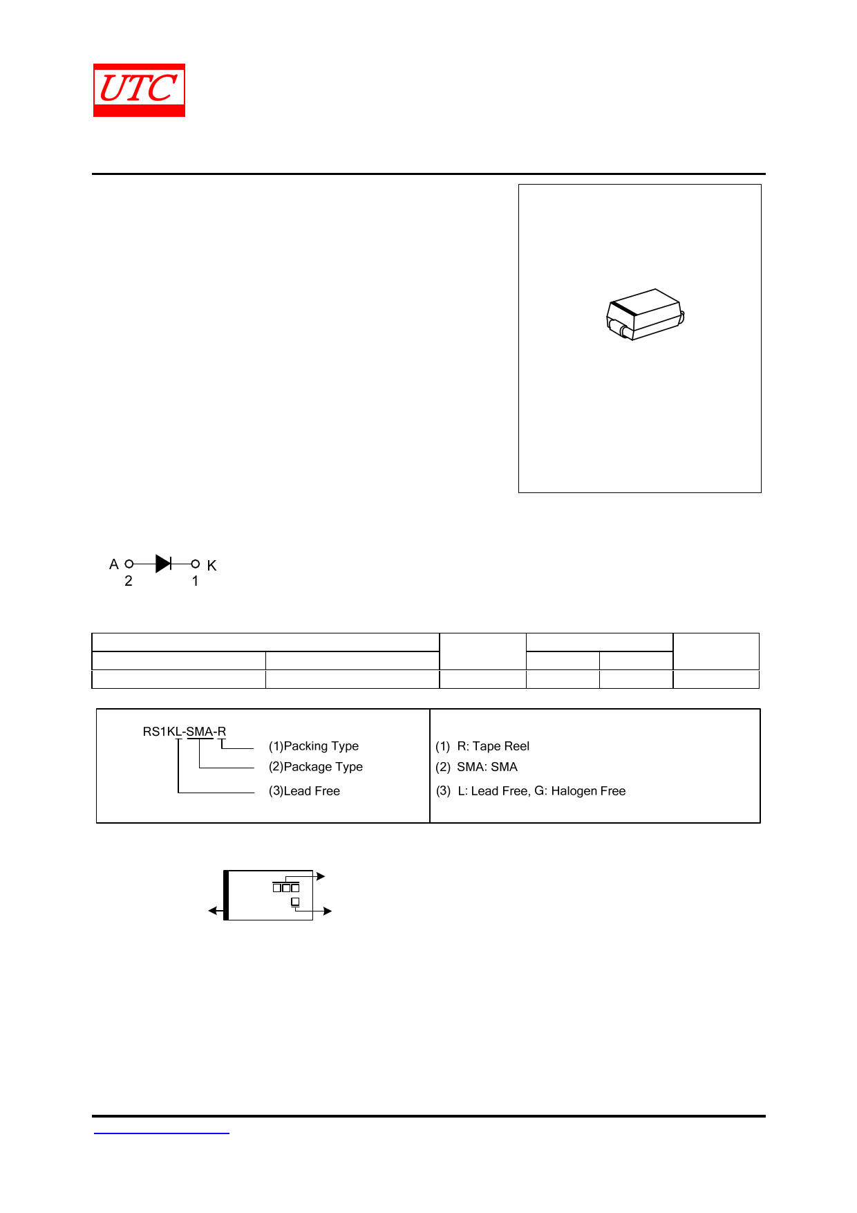 RS1K Datasheet, RS1K PDF,ピン配置, 機能