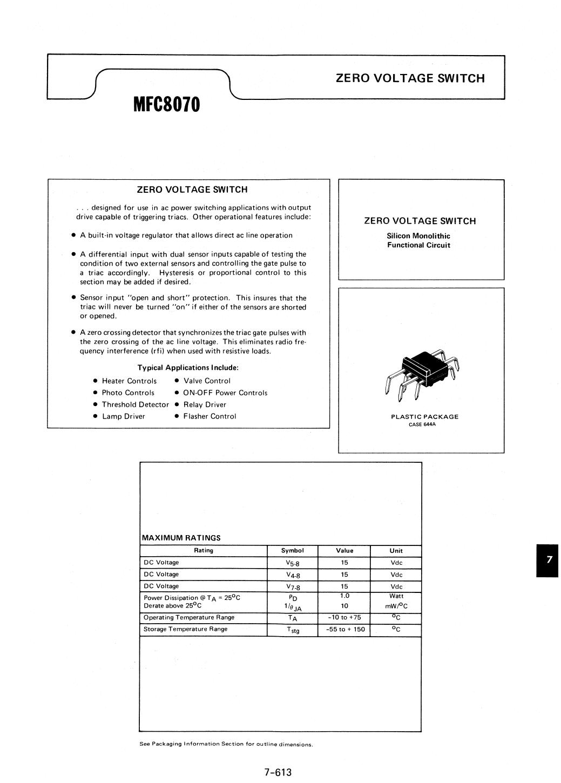MFC8070 데이터시트 및 MFC8070 PDF