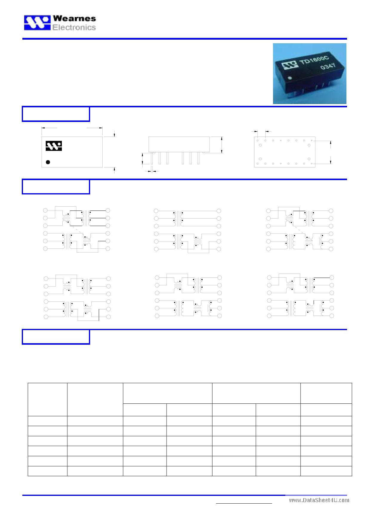 TD1605C دیتاشیت PDF