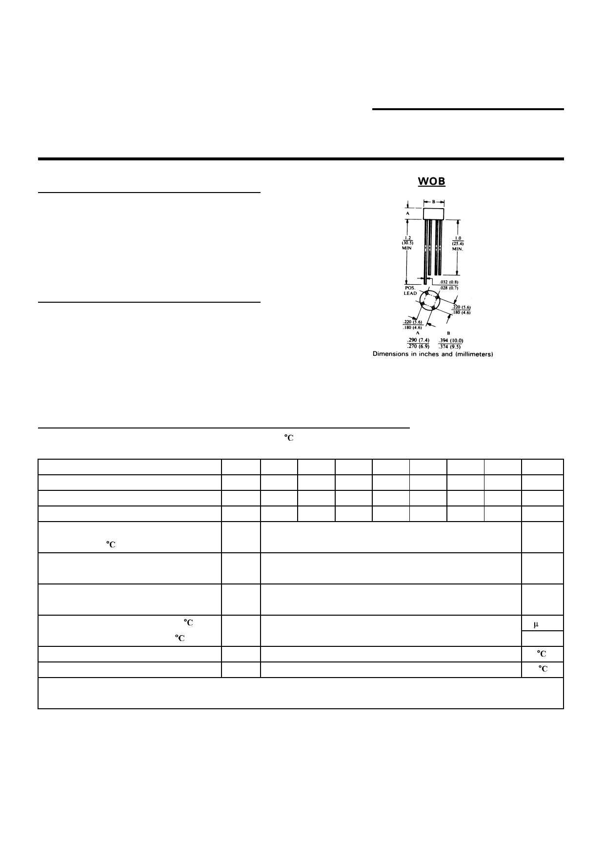 W01 datasheet