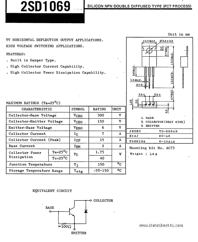 D1069 datasheet