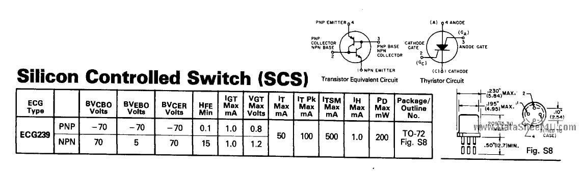 ECG239 datasheet