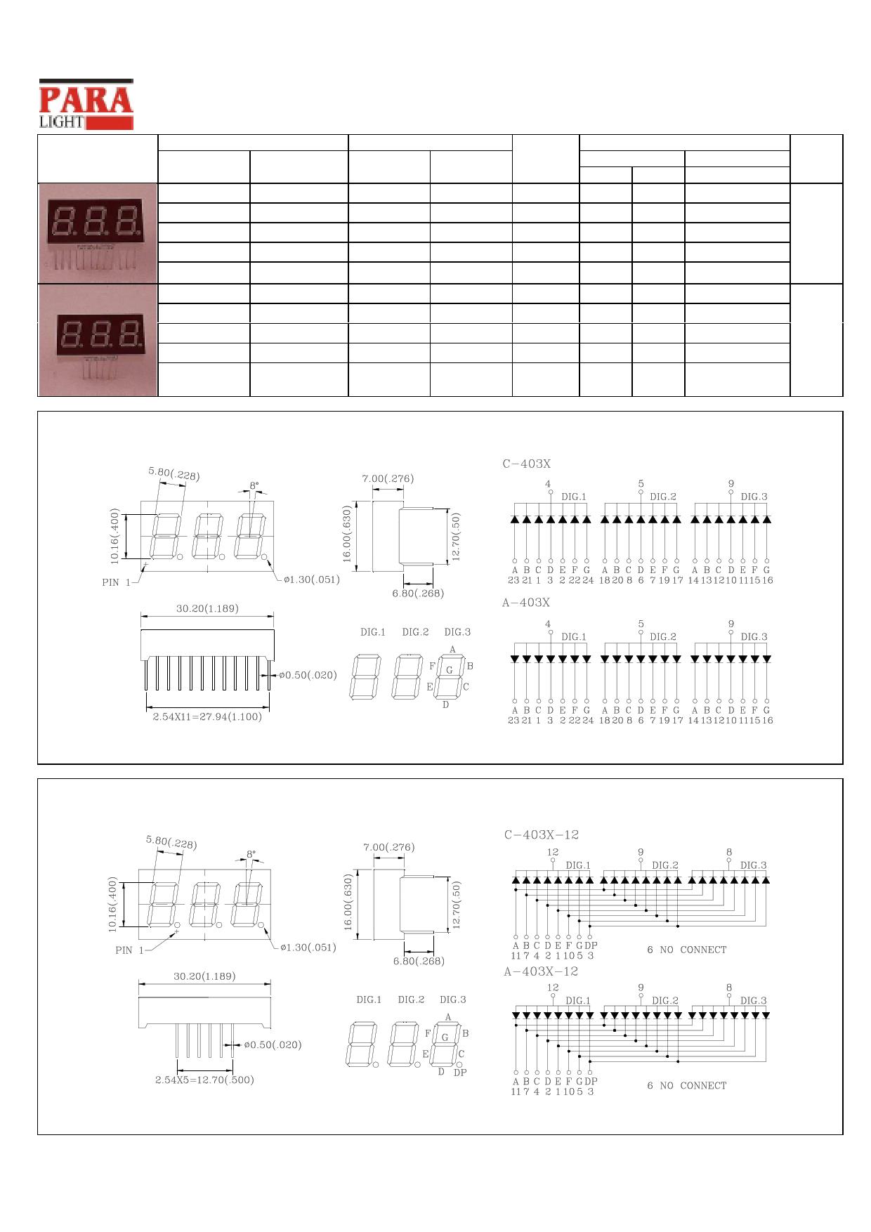 C-403Y دیتاشیت PDF