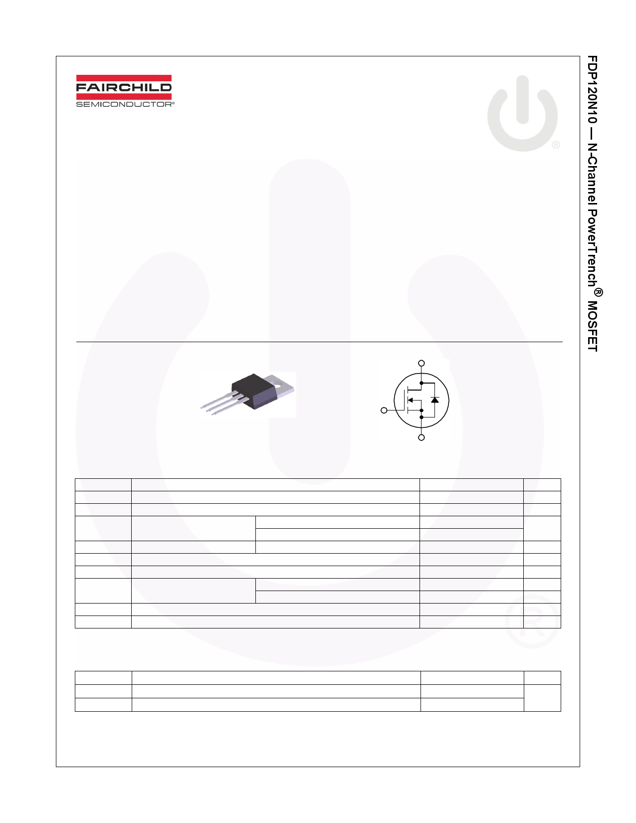 FDP120N10 데이터시트 및 FDP120N10 PDF