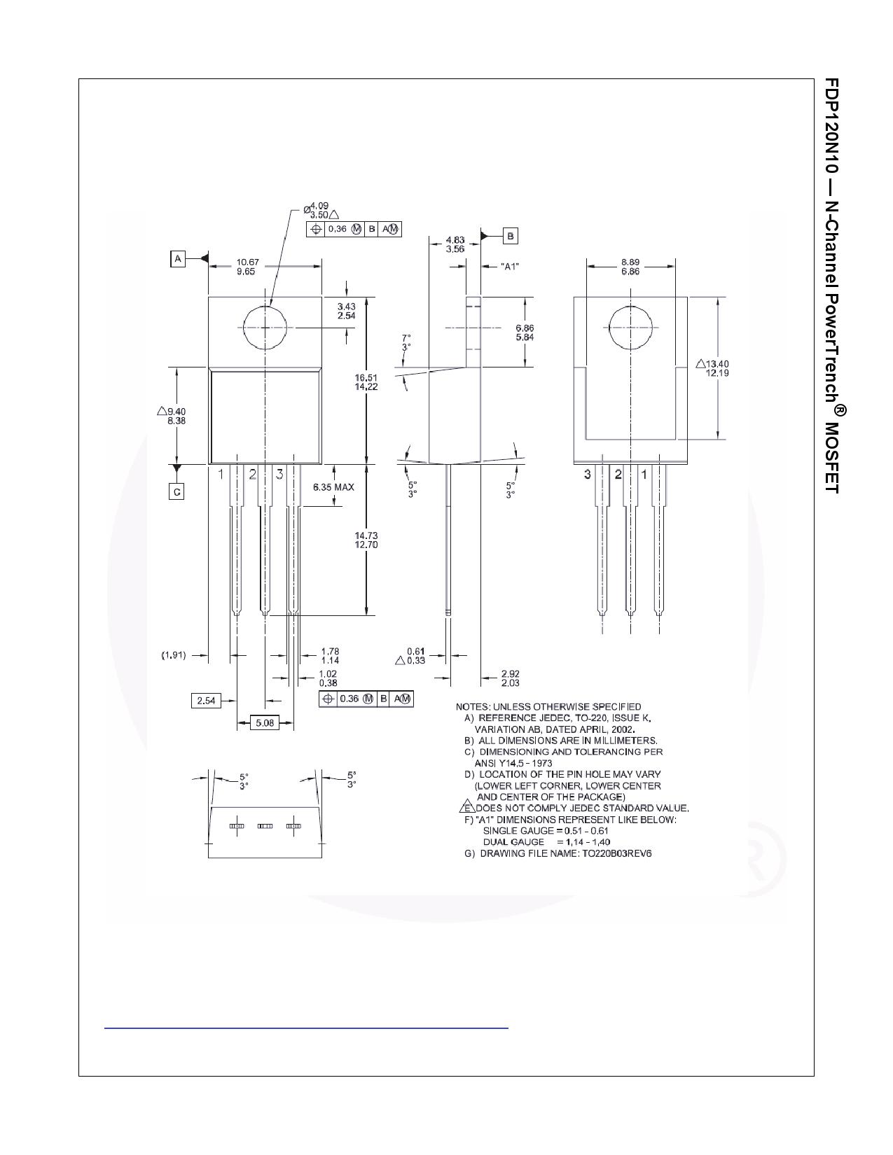 FDP120N10 전자부품, 판매, 대치품