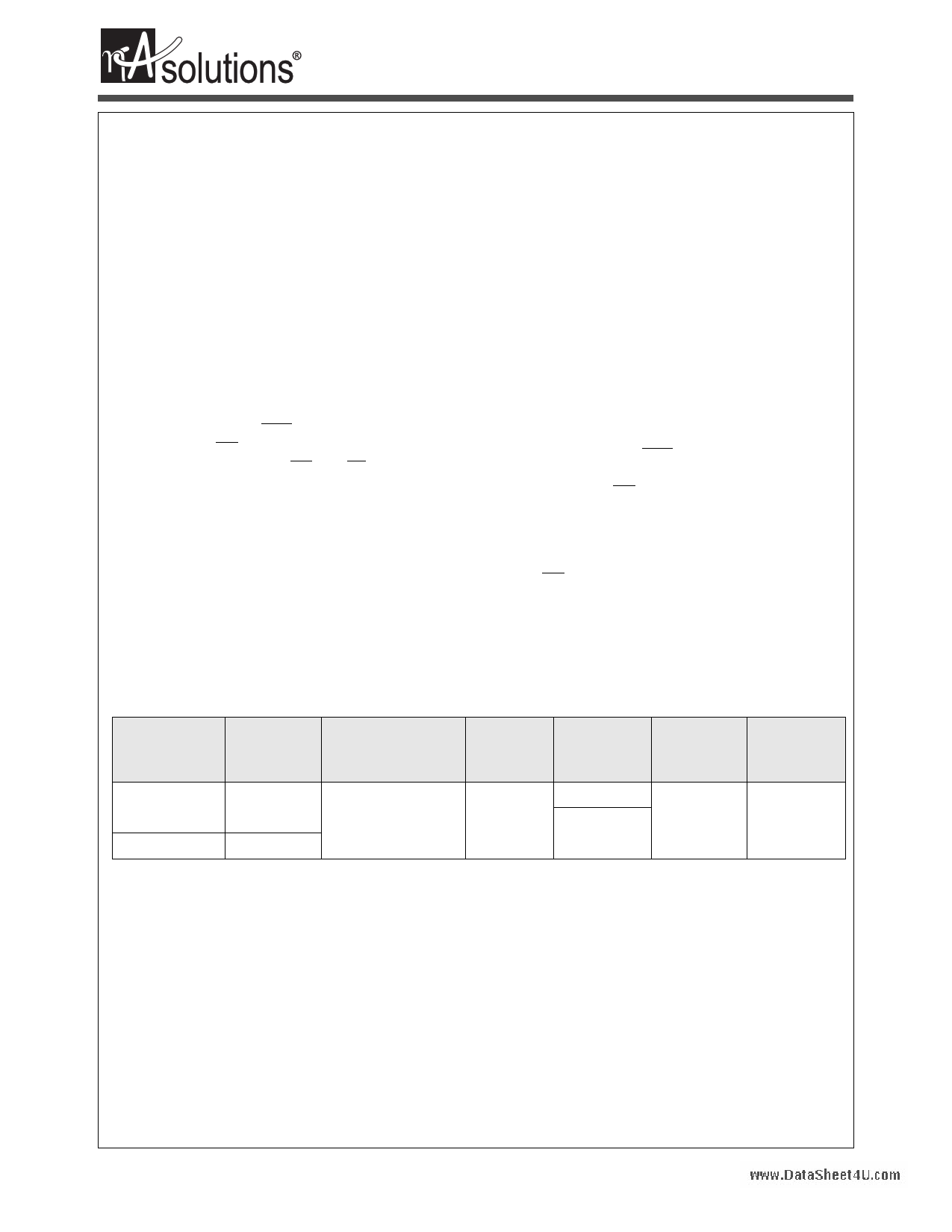 N04L1618C2A datasheet