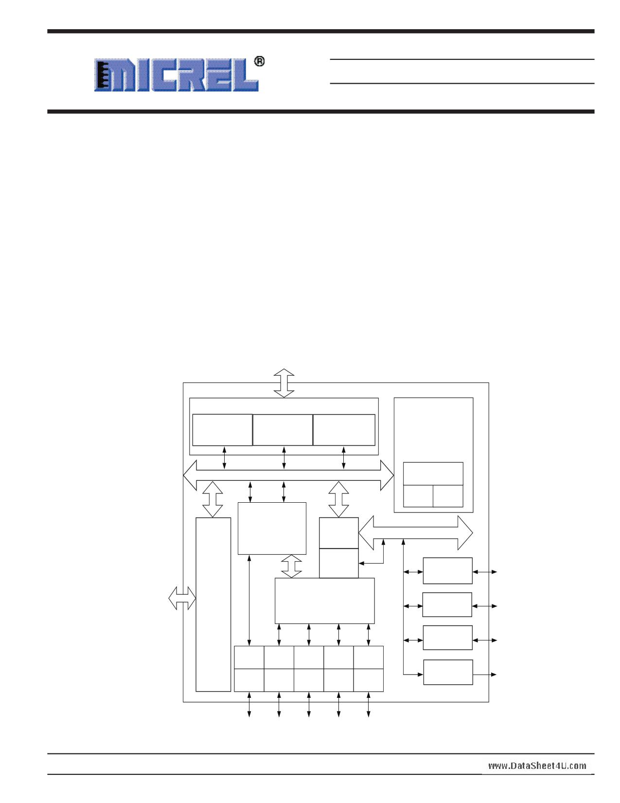 KSZ8695PX دیتاشیت PDF