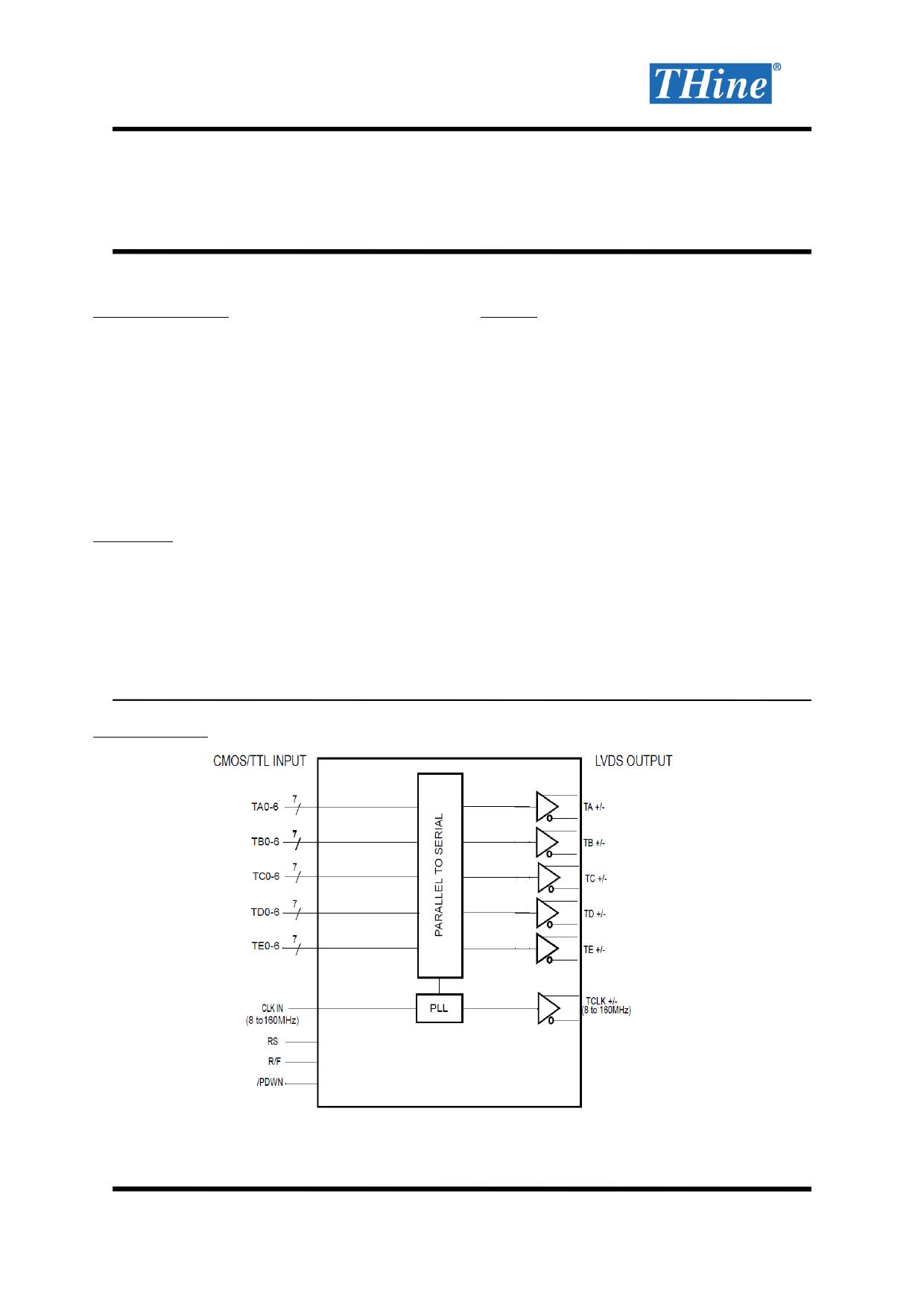 THC63LVD103D datasheet pinout pdf