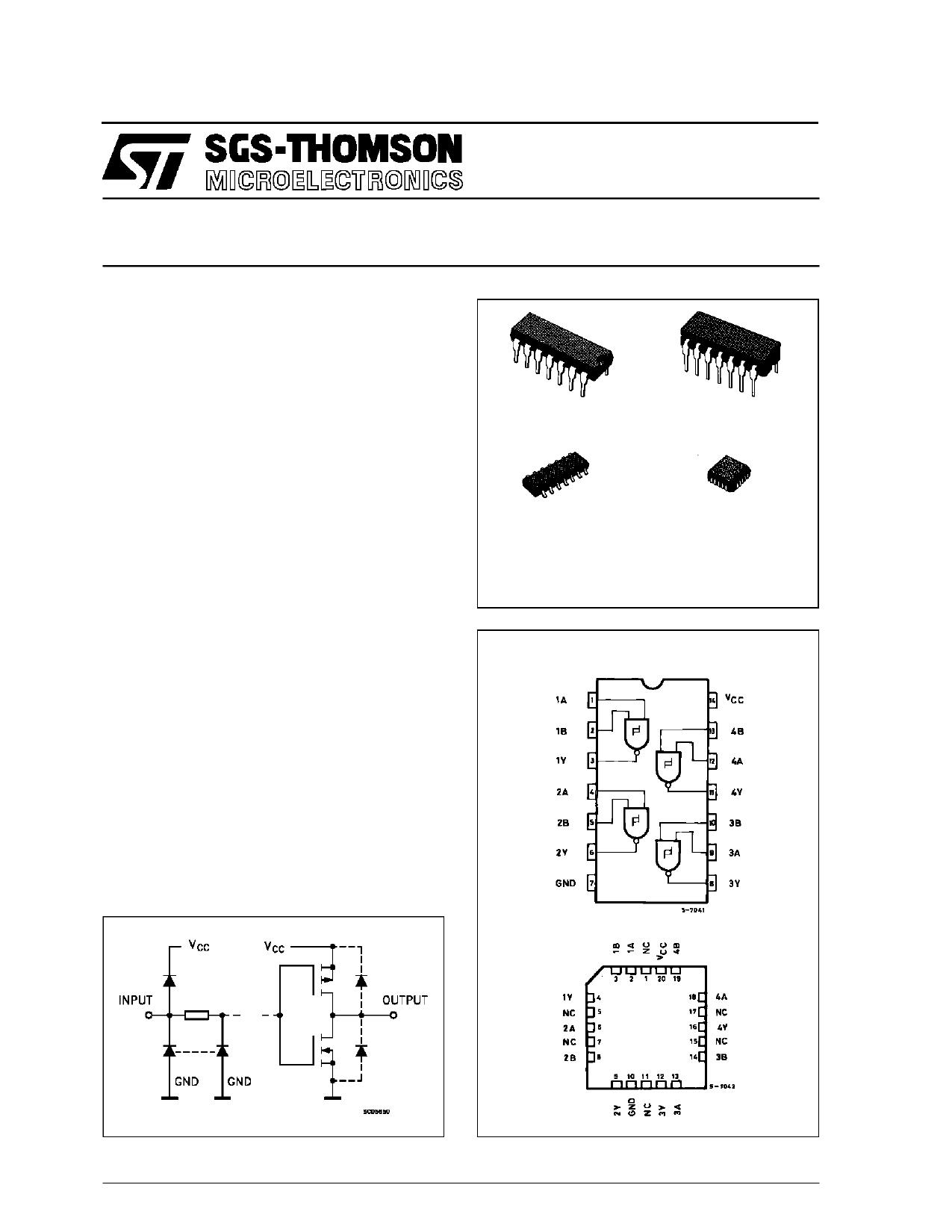M54HC132F1R datasheet