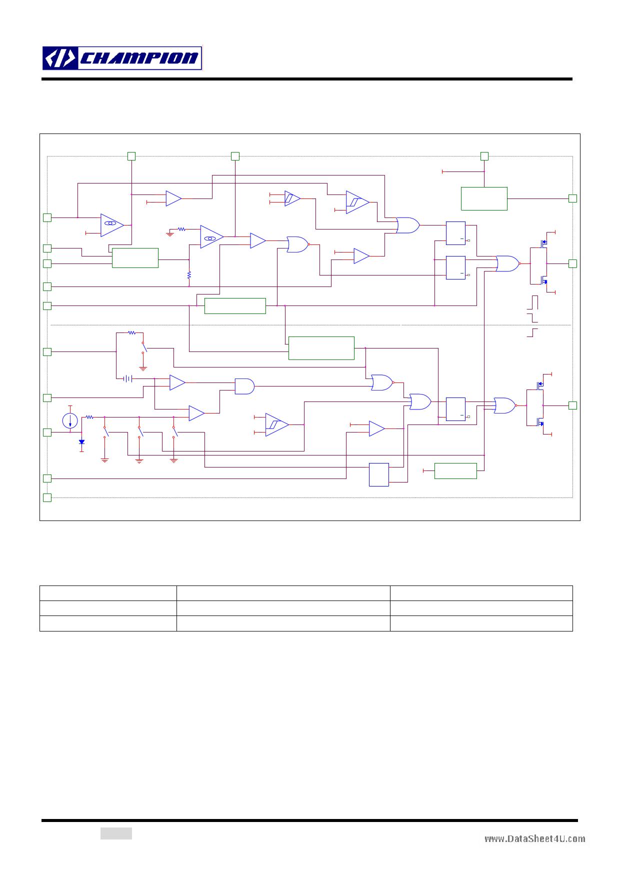 CM6800A pdf, ピン配列