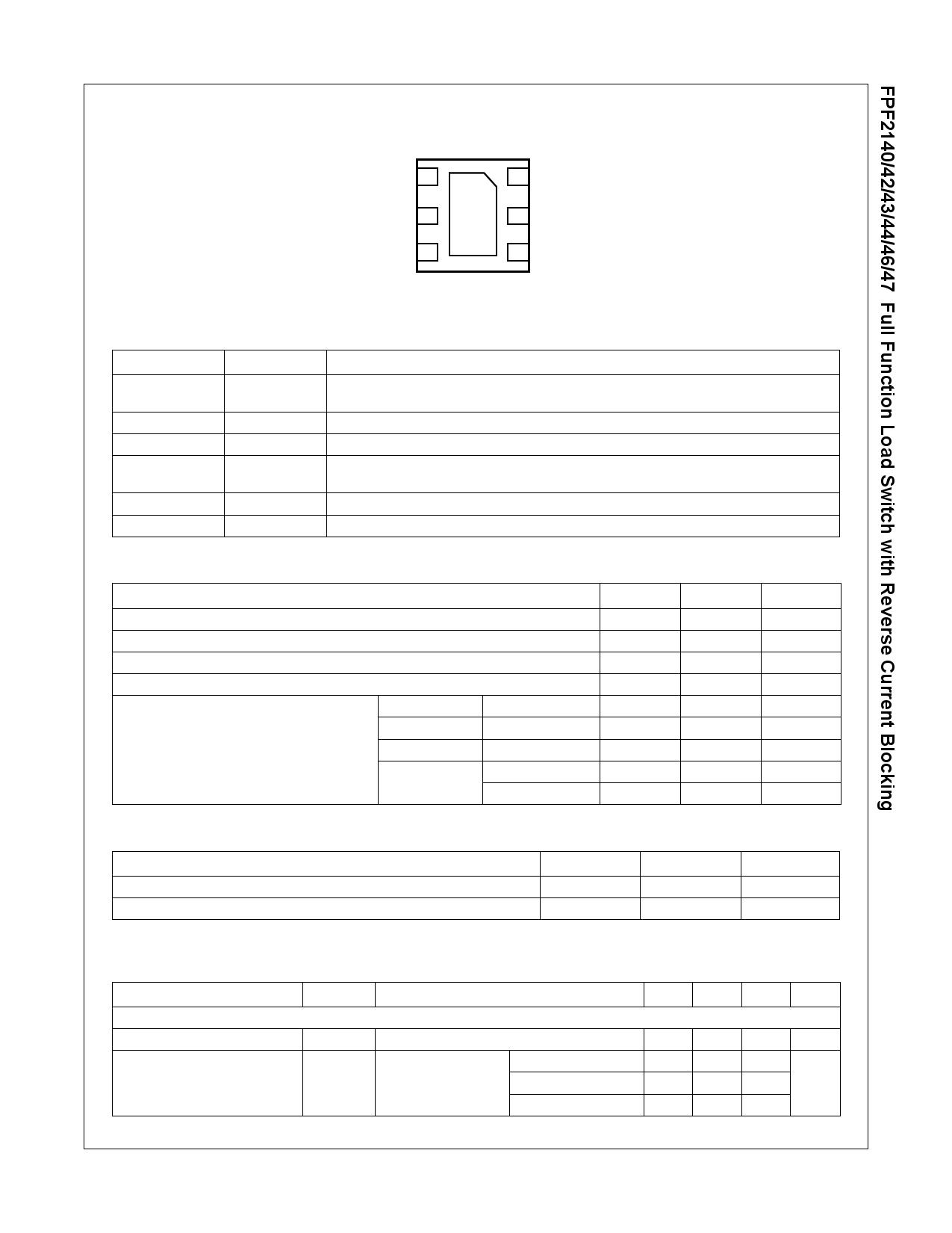 FPF2140 pdf, ピン配列