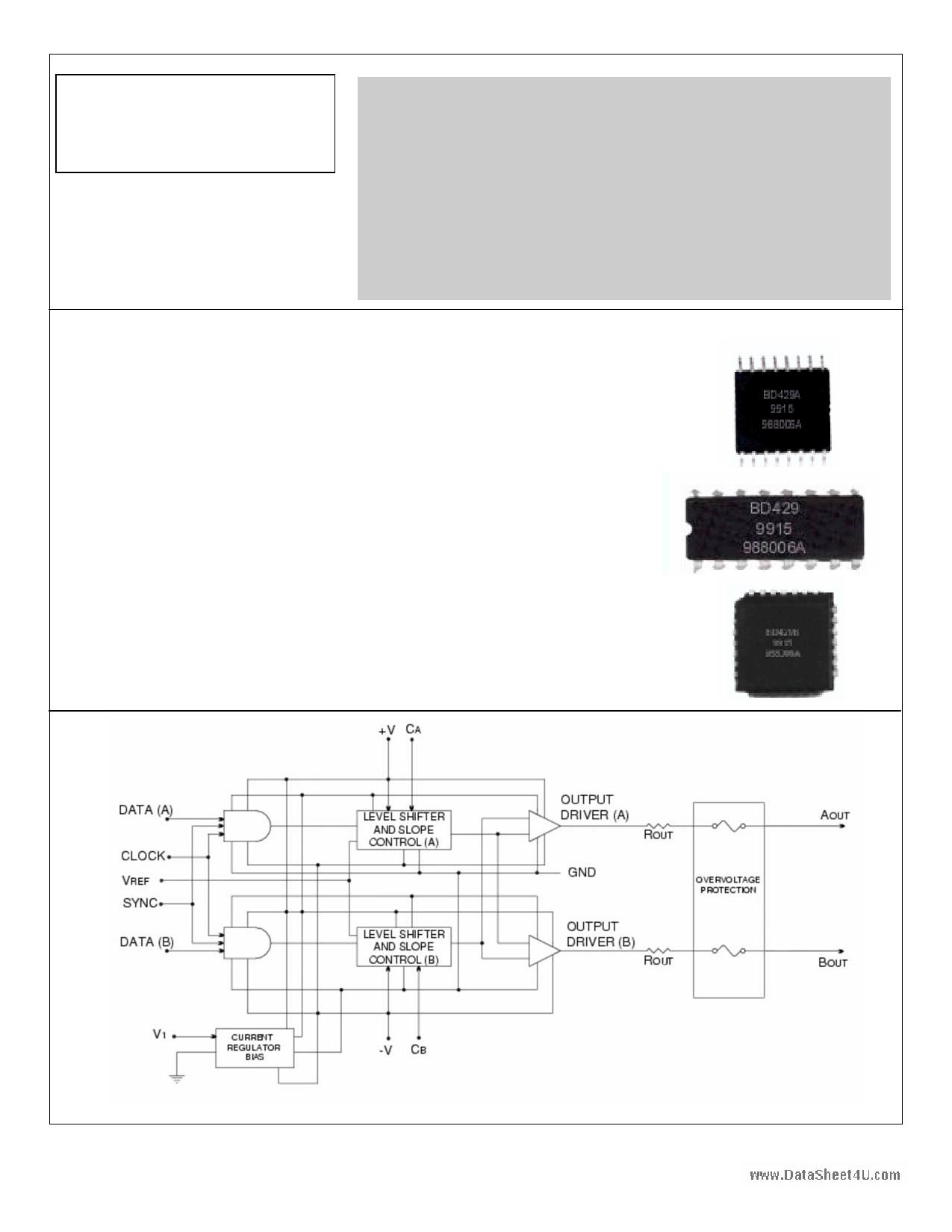 BD429A دیتاشیت PDF