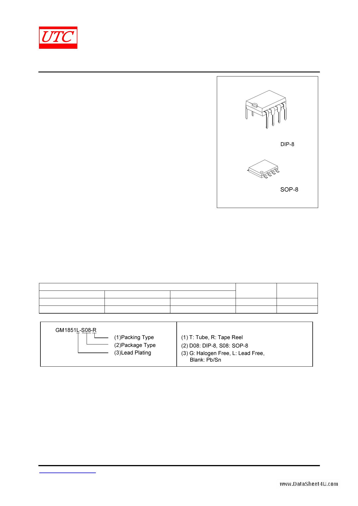 GM1851 دیتاشیت PDF