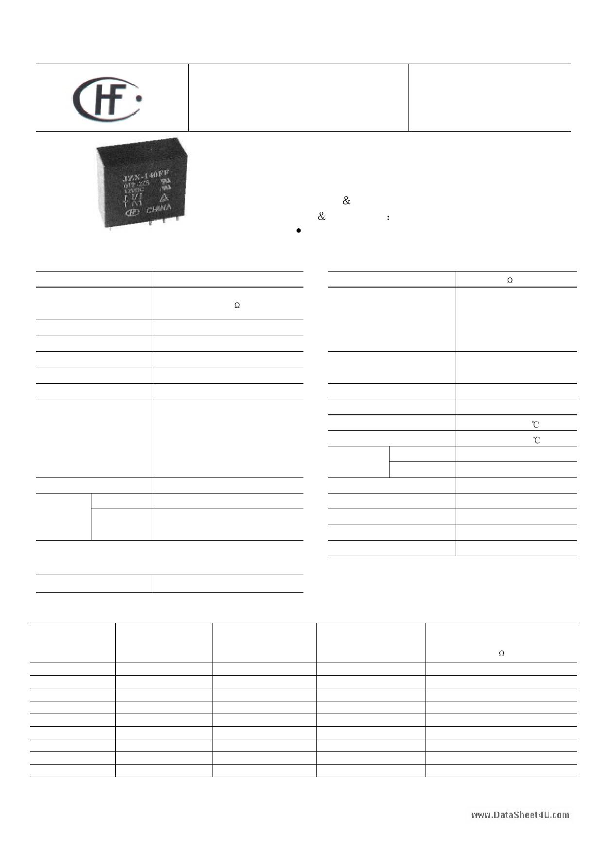 JQX-140FF دیتاشیت PDF