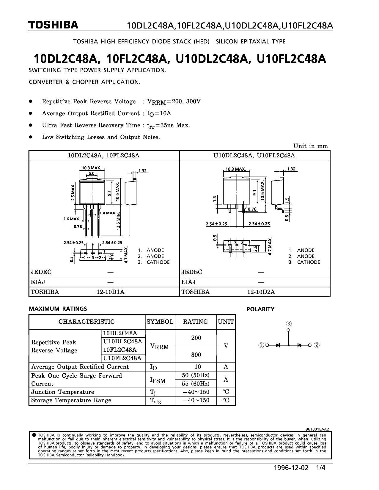 U10DL2C48A دیتاشیت PDF