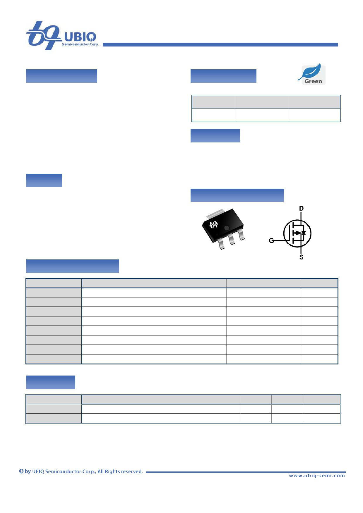 QM3001G Datenblatt PDF