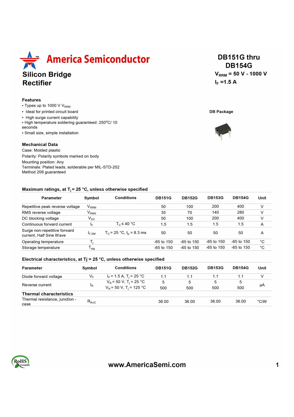 DB152G 数据手册