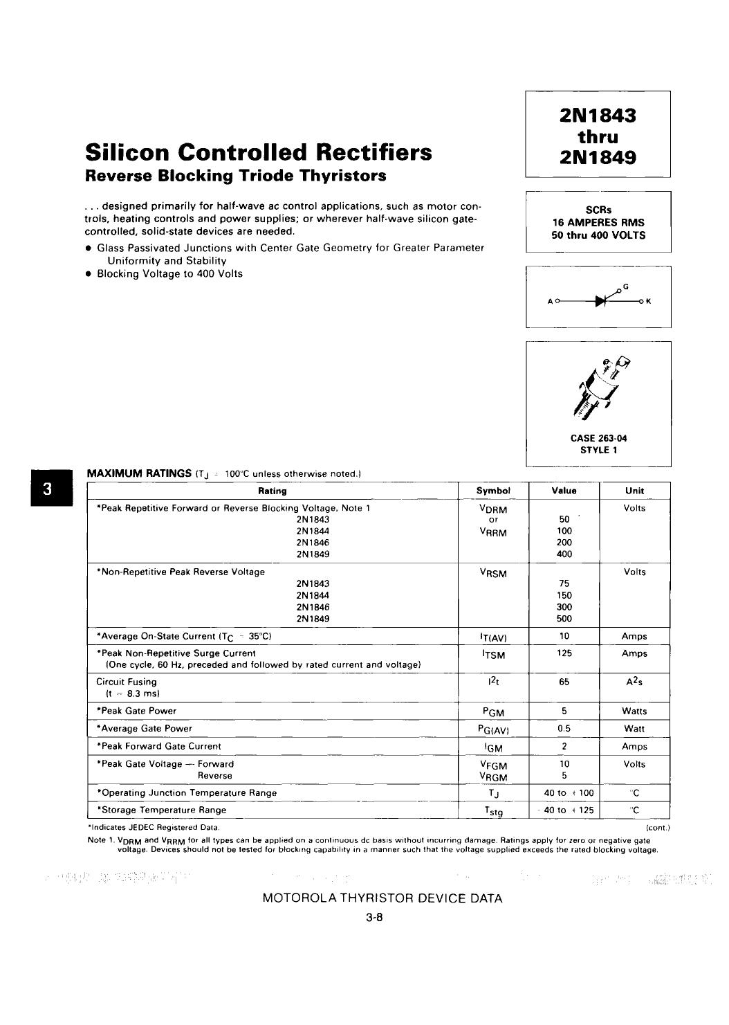 2N1843 دیتاشیت PDF