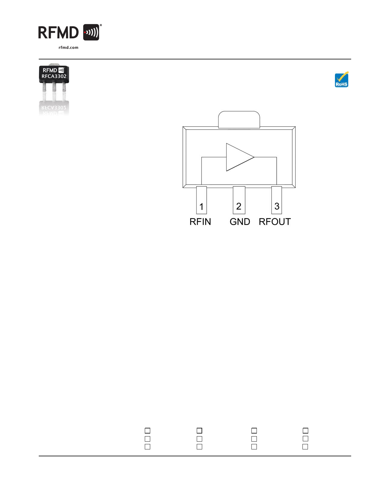 rfca3302 datasheet pdf   pinout