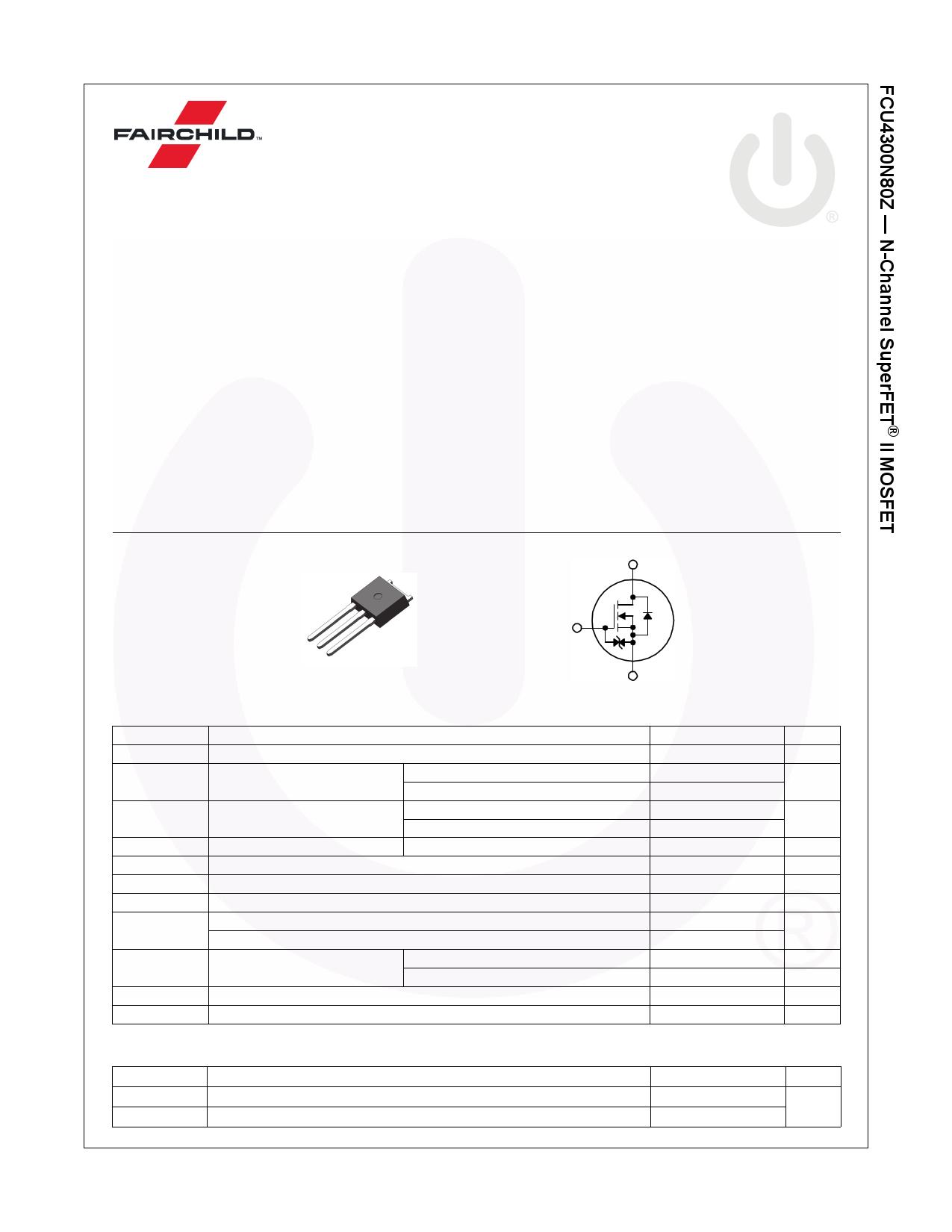 FCU4300N80Z データシート pdf pinout