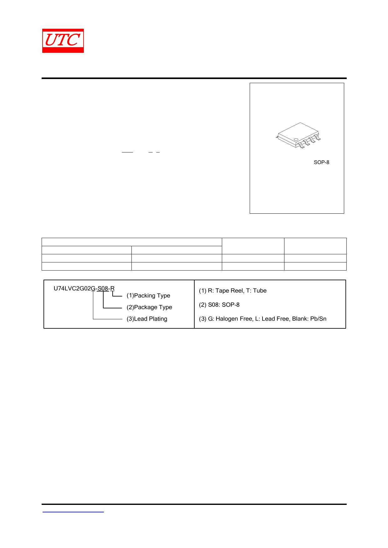 74LVC2G02 Datasheet