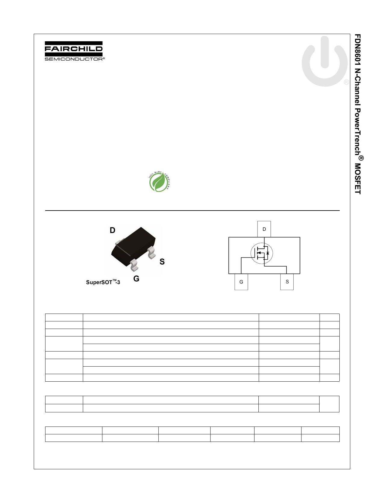 FDN8601 데이터시트 및 FDN8601 PDF