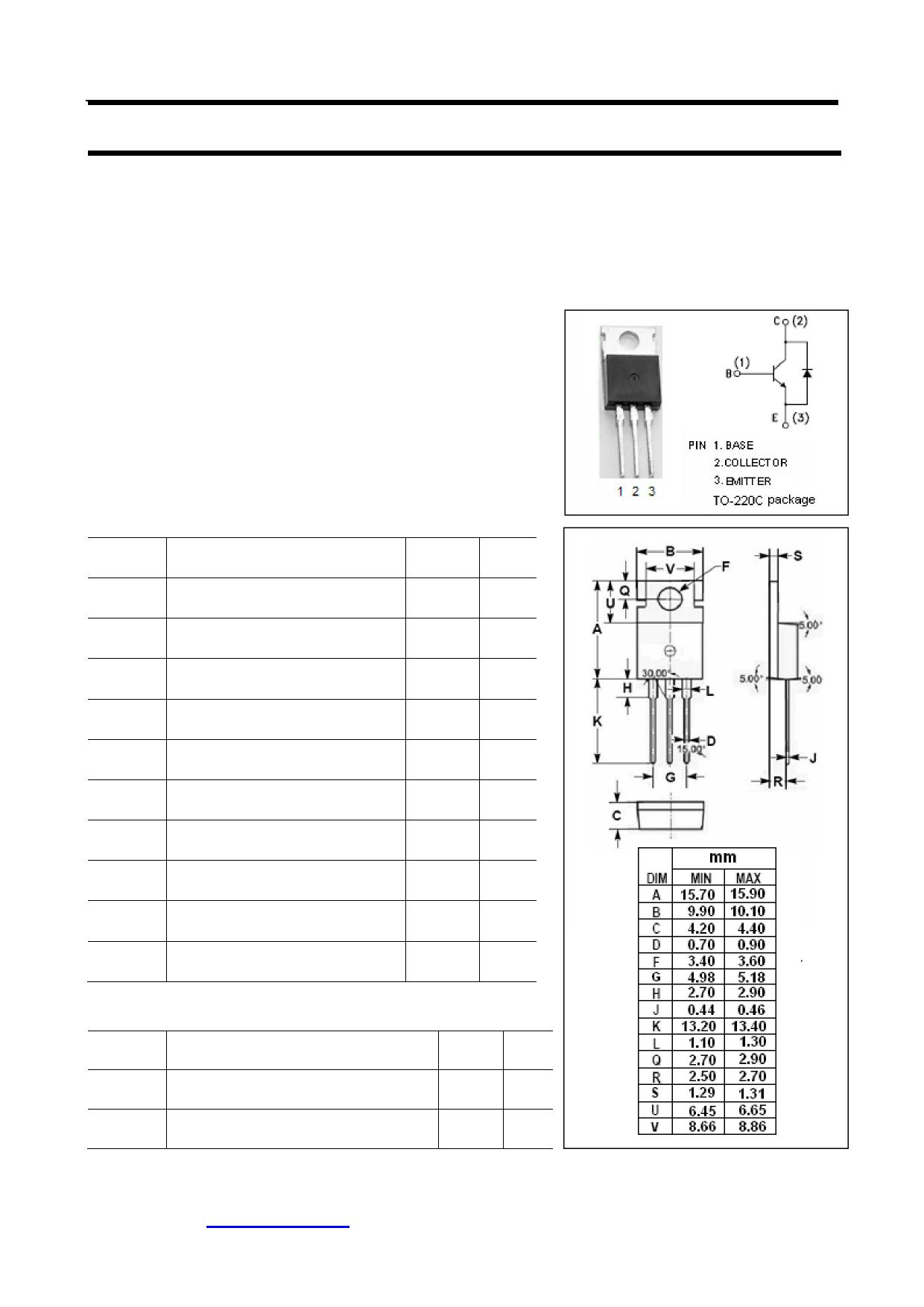 BUL58D Datasheet, BUL58D PDF,ピン配置, 機能