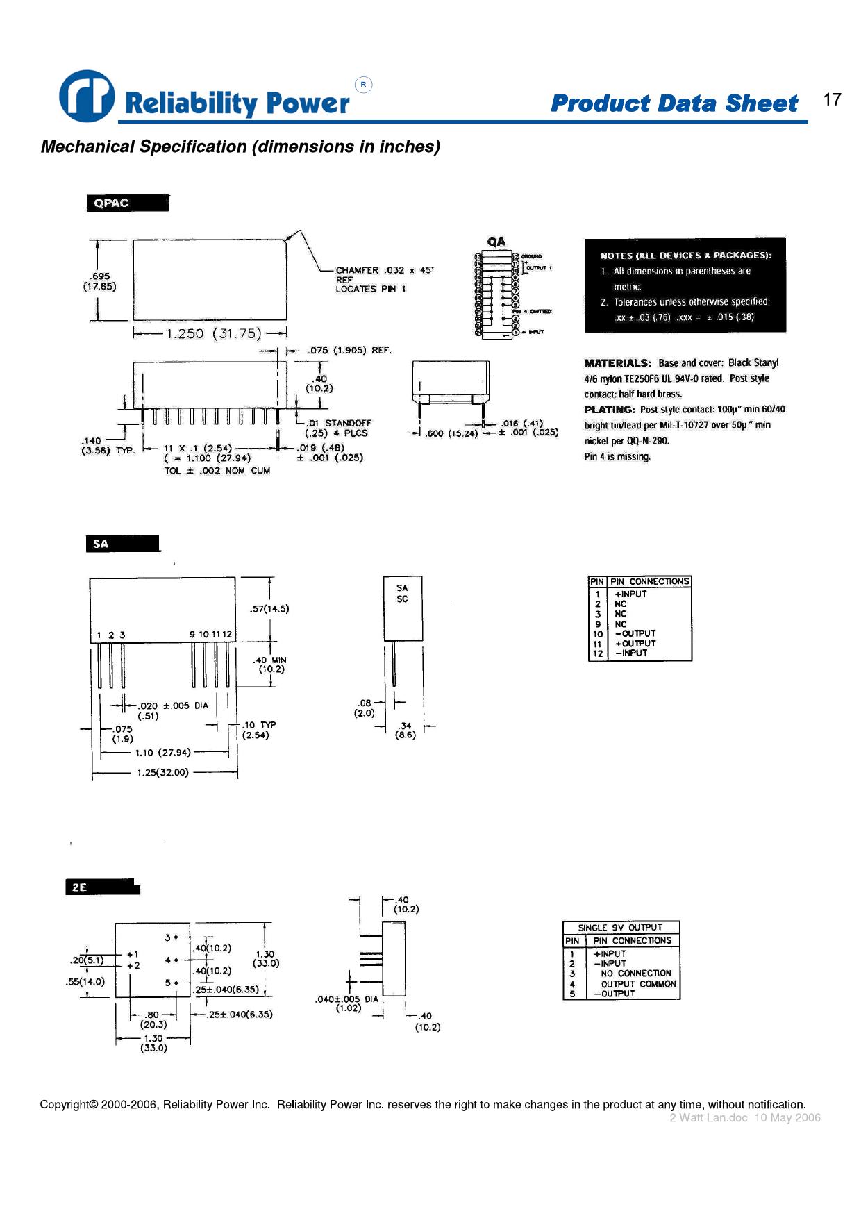 2QP12U9 pdf, ピン配列