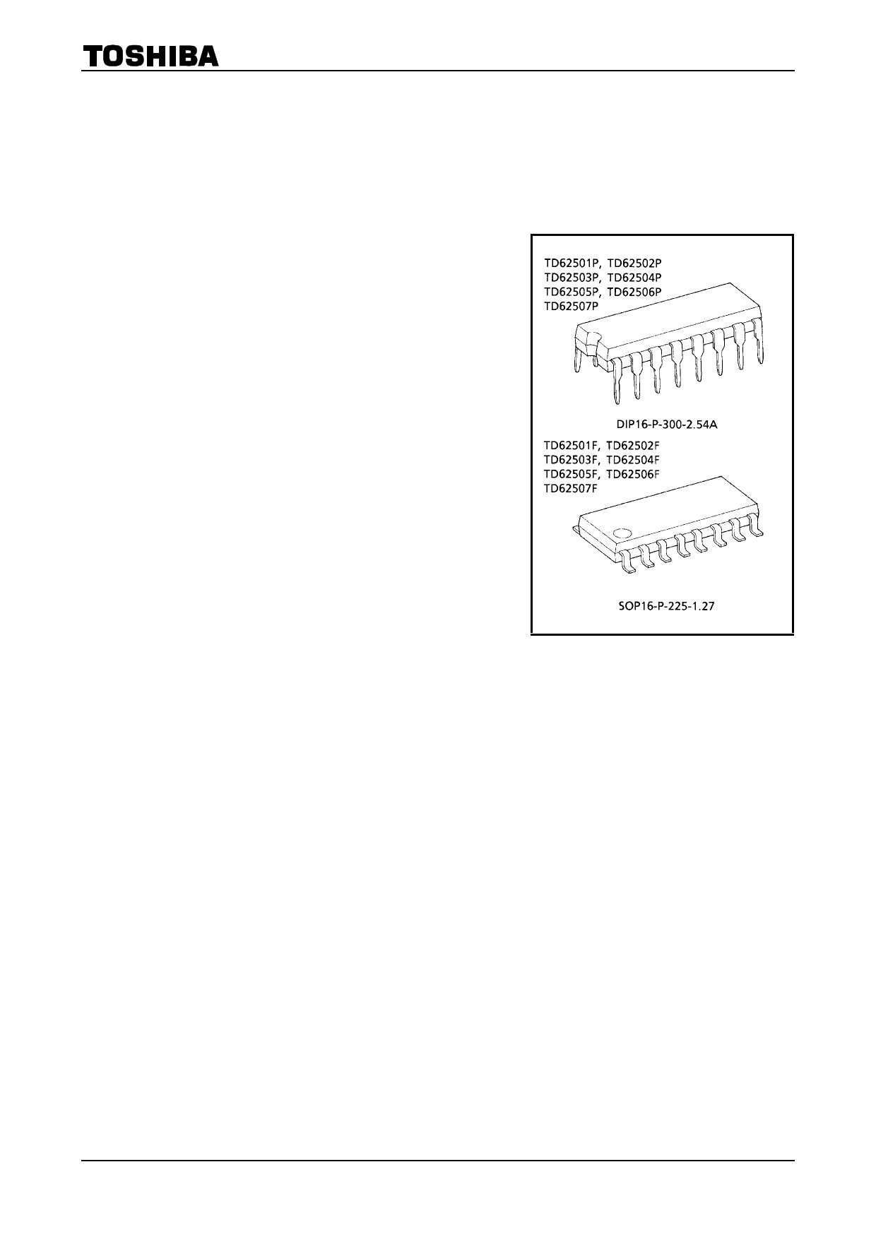TD62501 دیتاشیت PDF