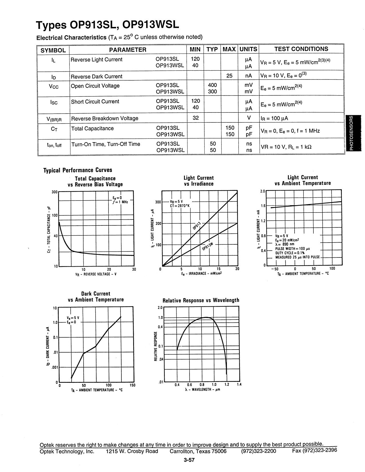 OP913SL pdf, schematic