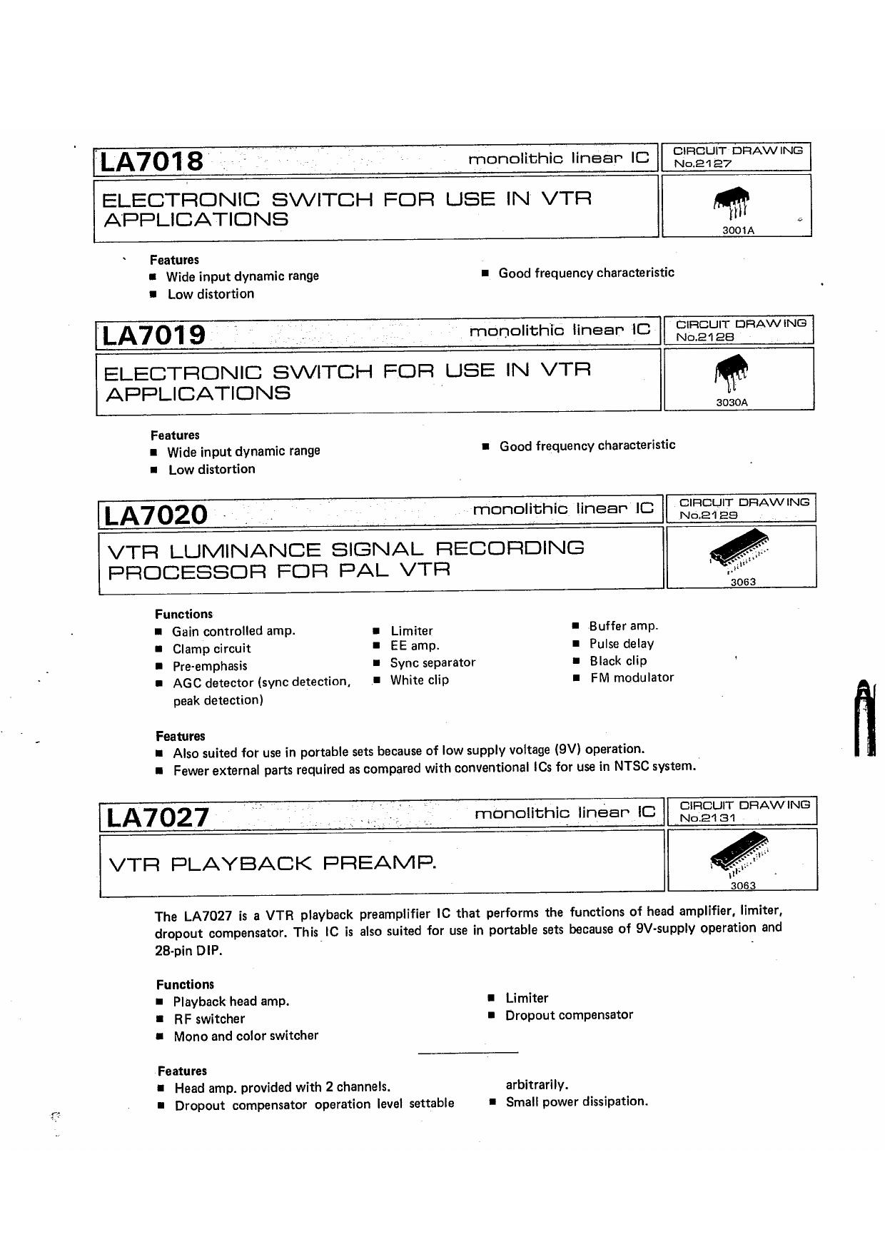 LA7018 دیتاشیت PDF