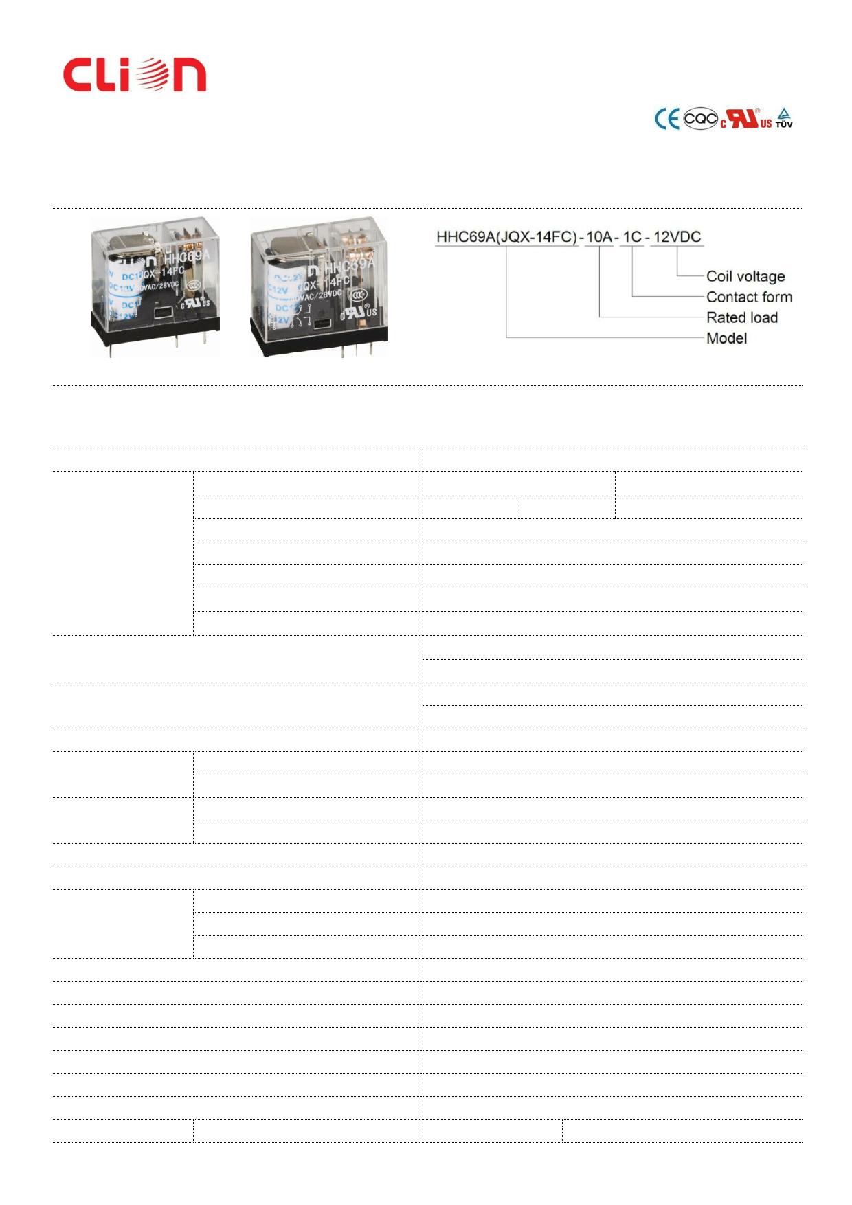 JQX-14FC دیتاشیت PDF