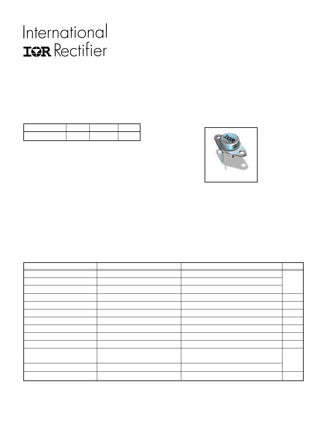 IRF430 datasheet