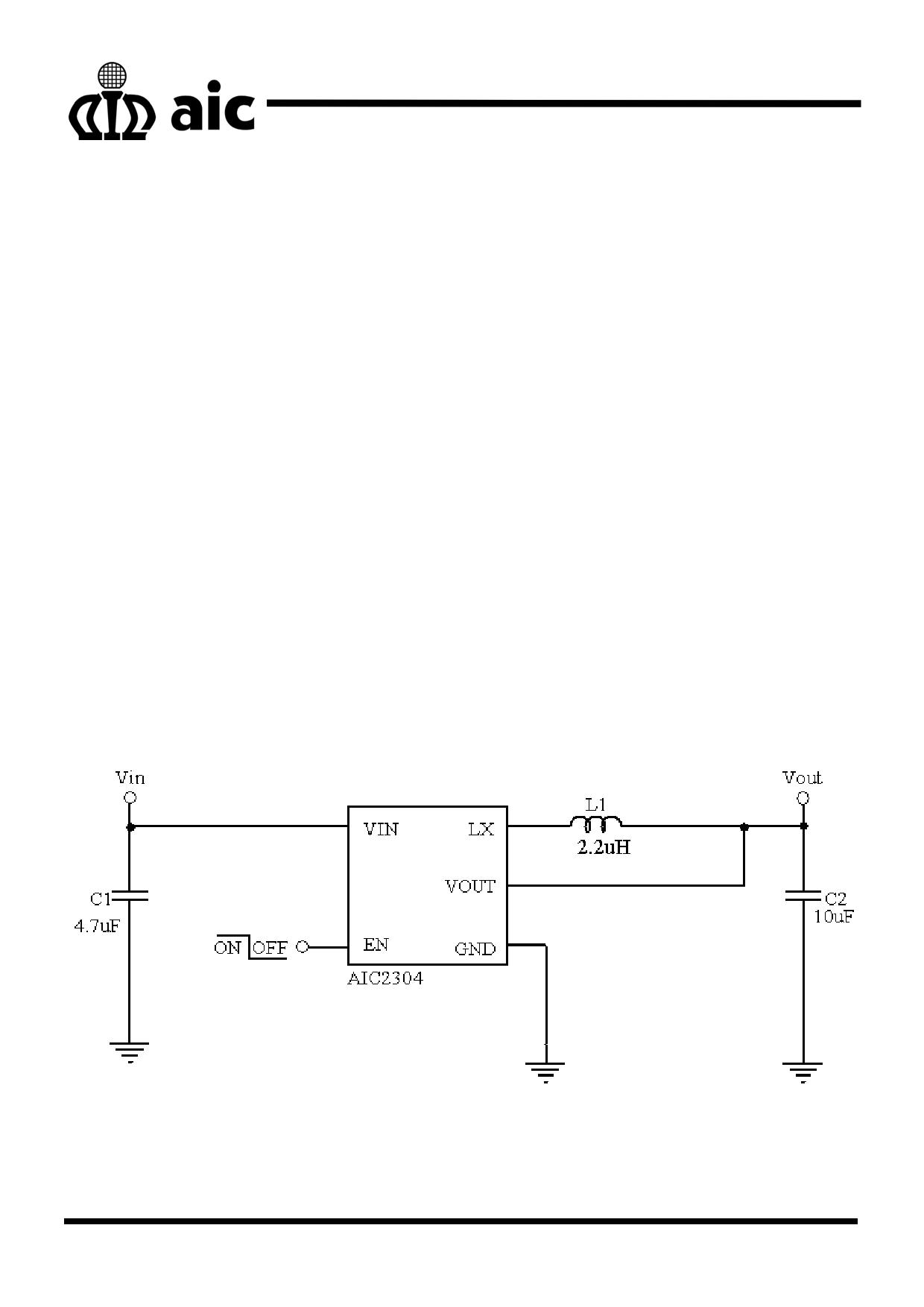 AIC2304 دیتاشیت PDF